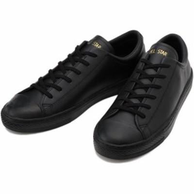 コンバース(CONVERSE) メンズ レディース スニーカー レザー オールスター クップ LEATHER ALL STAR COUPE OX ブラック 31301811 【靴