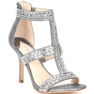 アントニオ メラーニ レディース サンダル シューズ Valorah Rhinestone Embellished T-strap Dress Sandals