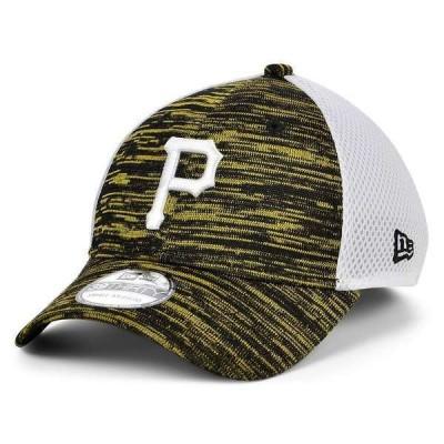 ニューエラ 帽子 アクセサリー メンズ Pittsburgh Pirates English Knit Neo 39THIRTY Cap Black/White