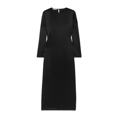 LA COLLECTION 7分丈ワンピース・ドレス ブラック 0 シルク 100% 7分丈ワンピース・ドレス