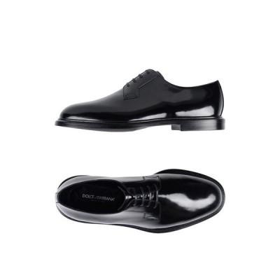 DOLCE & GABBANA レースアップシューズ ファッション  メンズファッション  メンズシューズ、紳士靴  その他メンズシューズ、紳士靴 ブラック