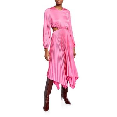エーエルシー レディース ワンピース トップス Naples Pleated Cutout Handkerchief Dress