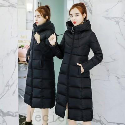 中綿ロングコート レディース 中綿 アウター ロングコート フード付き ダウン ダウンコート 暖かい