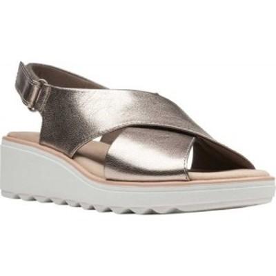 クラークス Clarks レディース サンダル・ミュール シューズ・靴 Jillian Jewel Slingback Sandal Gunmetal Metallic Leather
