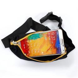 E.City_防潑水單口袋運動貼身隱形腰帶包(2入)