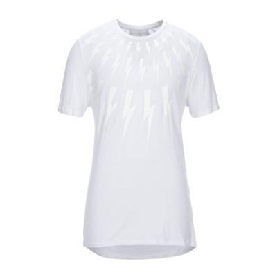 ニール・バレット NEIL BARRETT T シャツ ホワイト L レーヨン 100% T シャツ