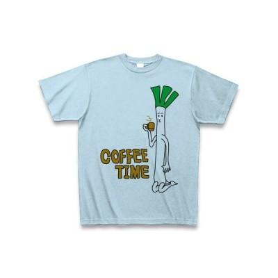ネギさんのコーヒータイム Tシャツ(ライトブルー)