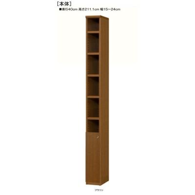 下部扉 ランドリー収納棚 高さ211.1cm幅15〜24cm奥行40cm厚棚板(棚板厚み2.5cm) 下扉高さ62.6cm オーディオラック 図書コーナー
