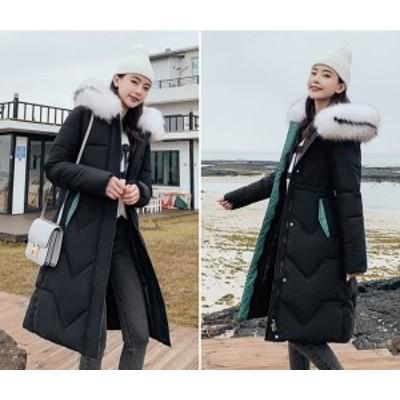 ダウンジャケット レディース ロング ダウンコート ロング アウター 大きいサイズ 中綿 コート 冬服