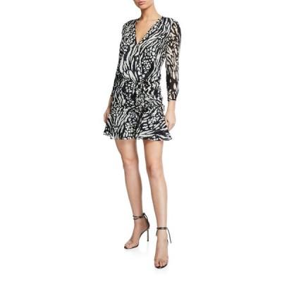 ヴェロニカ ベアード レディース ワンピース トップス Kiran Ruched Long-Sleeve Flounce Dress