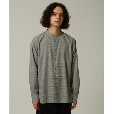 TRチェックバンドカラーシャツ 170-89102