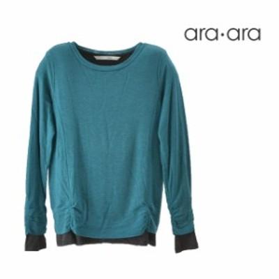 ara・ara/アラアラ フェイクレイヤードカットソー レディース トップス グリーン ブルー