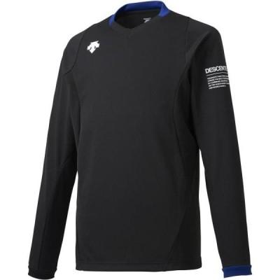 トレーニングシャツ メンズ レディース 長袖ライトゲームシャツ ブラック (DES)(CQB27)