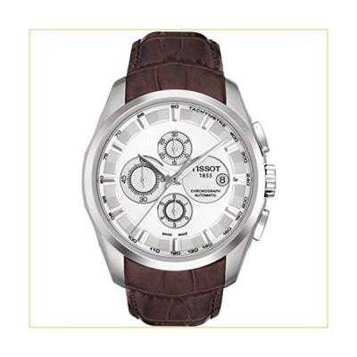 ティソ 腕時計  Tissot Couturier Automatic Chronograph Brown Leather Silver Dial Men's Watch #T035.627.16.031.00 並行輸入品
