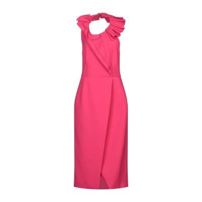 カプッチ CAPUCCI 7分丈ワンピース・ドレス フューシャ 40 ポリエステル 92% / ポリウレタン 8% 7分丈ワンピース・ドレス
