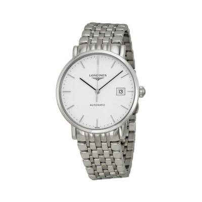 腕時計 ロンジン Longines エレガント コレクション 腕時計 オートマチック ホワイト ダイヤル ステンレス スチール メンズ