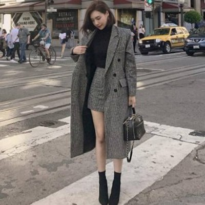 ロングコート ミニスカート コート人気 韓国ファッションコート ロングコート アウター ポケット付きコート ボタン付き プチプラアウター