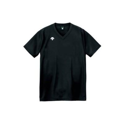 メール便OK DESCENTE(デサント) DSS-4321 半袖 ゲームシャツ プラクティスシャツ バレーボール BLK