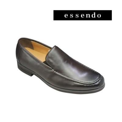 モデロヴィータ 3E 幅広 牛革スリッポン ラウンドトゥ VT5689 ダークブラウン MODELLO VITA メンズ 靴