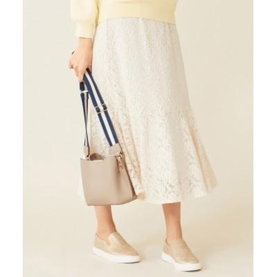 【エニィスィス/any SiS】 【洗える】キモウレースフレア スカート