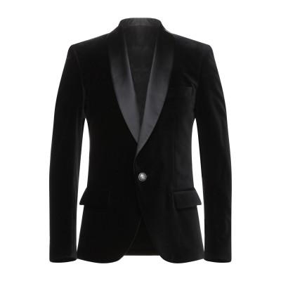 バルマン BALMAIN テーラードジャケット ブラック 48 コットン 100% / ポリエステル / シルク テーラードジャケット