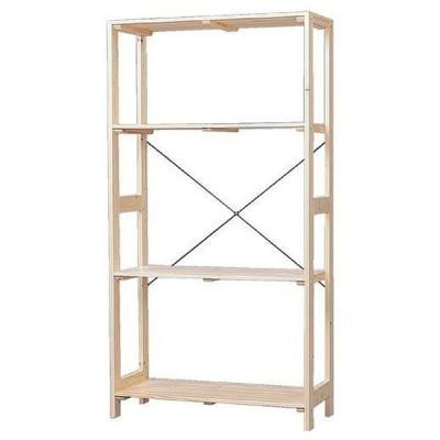 【欠品中】アイリスオーヤマ IRIS OHYAMA WOR-8315 ラック 木製 ウッディラック 幅83.5×奥行35×高さ147cm クリア インテリア 収納 収納棚