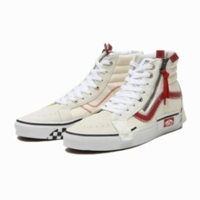 バンズ VANS スニーカー SK-8 HI REISSUE 白 赤 メンズ スケートハイ ホワイト レット シューズ 靴 ヴァンズ