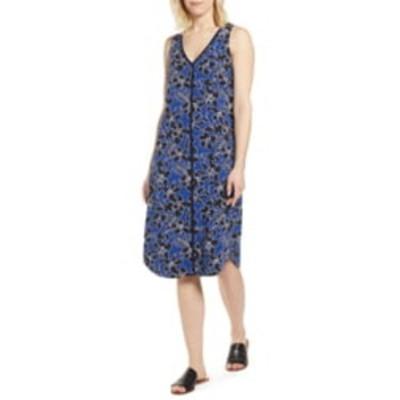 トッミーバハマ レディース ワンピース トップス Forte Floral Shift Dress DK COBALT
