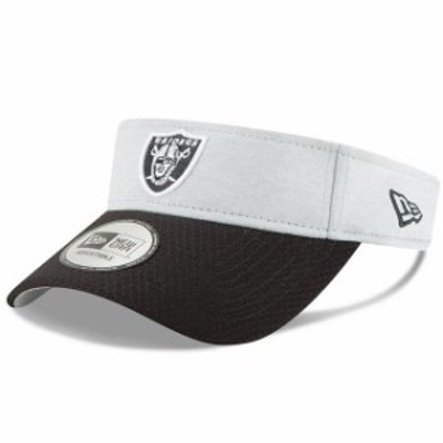 New Era ニュー エラ 帽子 バイザー New Era Oakland Raiders Heather Gray/Black 2018 NFL Sideline Home Official Visor
