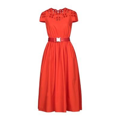 フェンディ FENDI 7分丈ワンピース・ドレス レッド 36 コットン 100% 7分丈ワンピース・ドレス