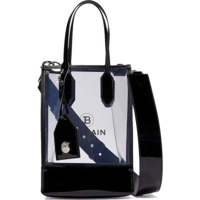 バルマン Balmain レディース ショルダーバッグ バッグ PVC Logo Shopping Bag Clear/Black