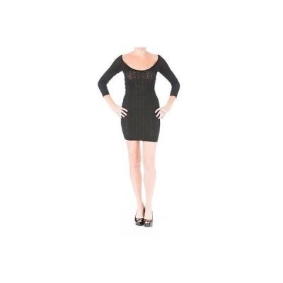 キャサリンマランドリーノ ドレス ワンピース キャットherine Malandrino 5318 レディース ブラック Pointelle ミニ Party ドレス S BHFO