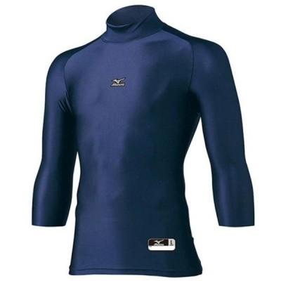 ミズノ バイオギアアンダーシャツ ハイネック七分袖 野球アンダーシャツ 12JA4C2014 ネイビー