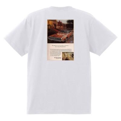 アドバタイジング フォード 752 白 Tシャツ 黒地へ変更可 1967 サンダーバード ギャラクシー ファルコン フェアレーン マスタング ランチェロ