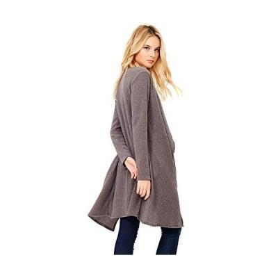 Modern Kiwi Dani Long Sleeve Midi Sweater Pocket Cardigan Mocha Medium並行輸入品