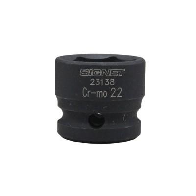 SIGNET シグネット 23138 1/2DR インパクト用ショートソケット 22MM 代引不可