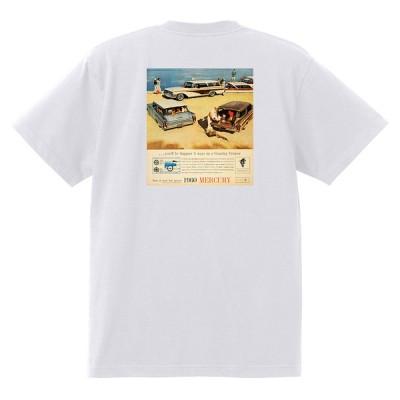 アドバタイジング マーキュリーTシャツ 白 1202 黒地へ変更可 1960 モントクレア モントレー パークレーン コメット ホットロッド