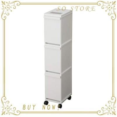 トンボ ユニード 分別 3段 スリム ペール 30L ゴミ箱 ホワイト