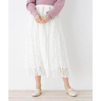 SHOO・LA・RUE / シューラルー ハイウエストレースロングスカート