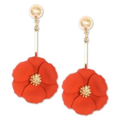 ゼンジ レディース ピアス・イヤリング アクセサリー Gold-Tone Painted Flower Drop Earrings