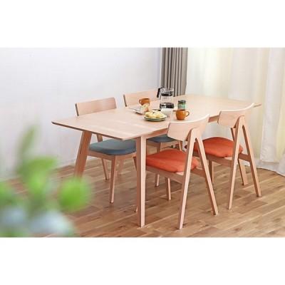 伸長式ダイニングテーブル単品 幅140cm 170cm 4人掛け 6人掛け 伸縮 テーブル 木製 ビーチ無垢 エクステンション 机