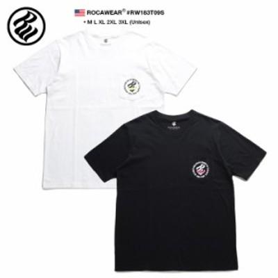 ロカウェア ROCAWEAR Tシャツ 半袖 メンズ レディース 白 黒 M L XL 2L LL 2XL 3L XXL 3XL 4L XXXL 大きいサイズ b系 ヒップホップ スト