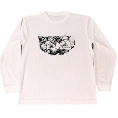 アーサー・ラッカム 妖精 ドライ Tシャツ 本屋 ブックショップ グッズ  ロング Tシャツ ロンT 長袖