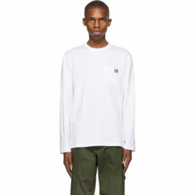ロエベ Loewe メンズ 長袖Tシャツ トップス White Anagram Long Sleeve T-Shirt White