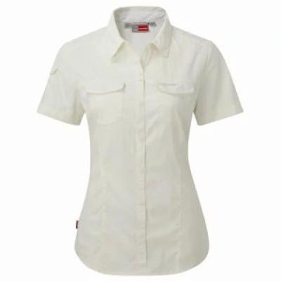クラッグホッパーズ ブラウス・シャツ Nosilife Adventure Short Sleeved Shirt white