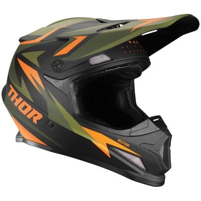 ヘルメット THOR 21 SECTOR SG WARSHIP グリーン/オレンジ 日本専用設計[SG規格]オフロード 正規輸入品 WESTWOODMX