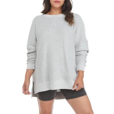 トゥルー クラフト レディース シャツ トップス Plus Size Crew Neck Sweatshirt