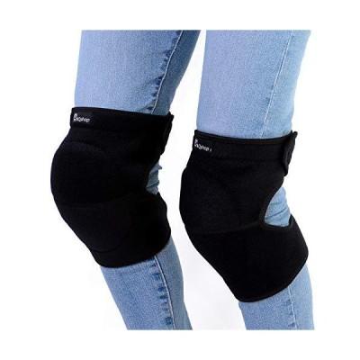 AQshop DIY 膝当て 作業用 膝パッド 掃除 農作業 ガーデニング サバゲー メンズ レディース 男女兼用 ブラック 左右2個入り (ブラック