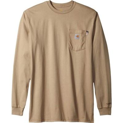 カーハート Carhartt メンズ 長袖Tシャツ 大きいサイズ トップス Big & Tall Flame-Resistant Force Cotton Long Sleeve T-Shirt Khaki