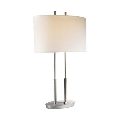 [新品]George Kovacs P184-084 Portables 2 Light Table Lamp, 20 Watt LED, Brushed Nickel